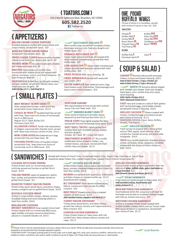 Tailgator's 061-667741 921881 Aug 2020 limited menu print_Page_1